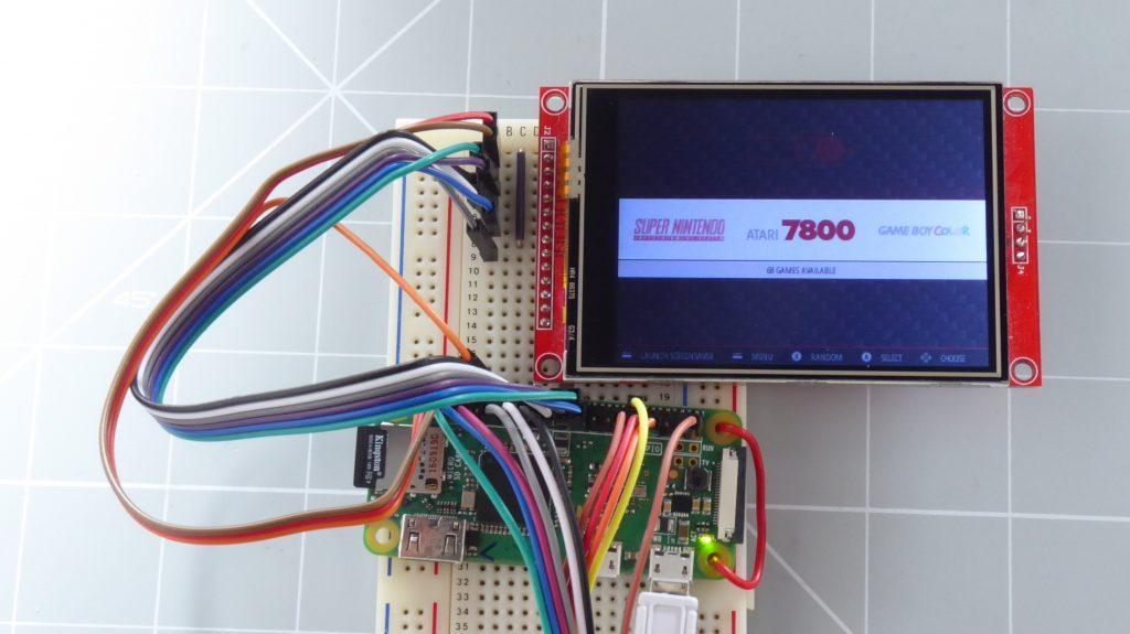 Generic LCD panel with Raspberry Pi Zero