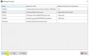 LaunchBox Emulator List